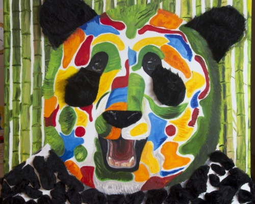 Gekleurde Panda
