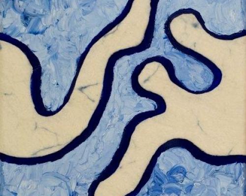 Grenzeloos blauw met vlit
