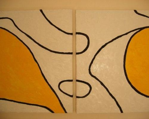 Grenzeloos wit met geel concept